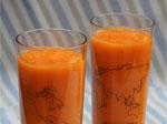 Recette de smoothie aux carottes, à l'orange et au gingembre