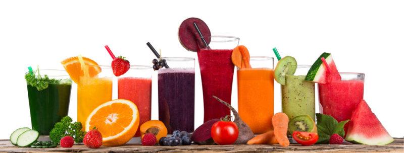 Cure de jus de fruits et légumes pendant l'été
